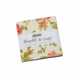 Charm Pack Scarlet & Sage